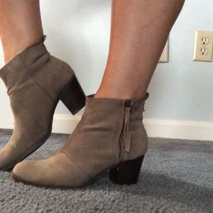Grey old navy booties